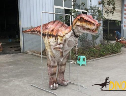 Theme park animatronic walking Dinosaur costume of high quality mechanical