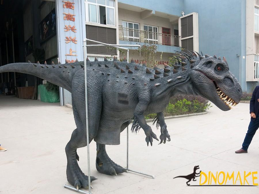 custom black skin Animatronic dinosaur costume