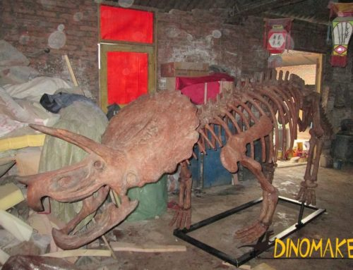 Theme park life-size Animatronic dinosaur skeleton model