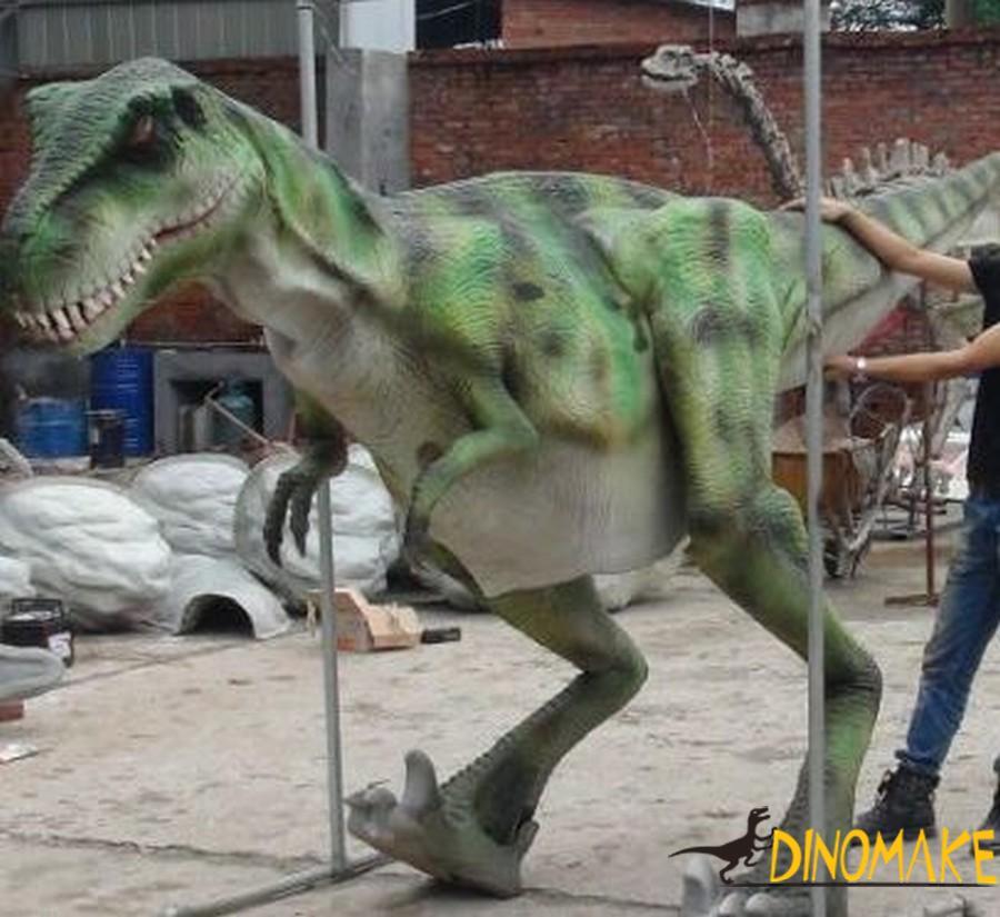 real dinosaur costume in children's amusement park