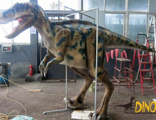 People wear Animatronic dinosaur costume manufacturer