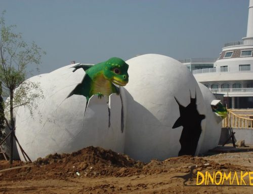 Animatronic dinosaur exhibition case picture appreciation