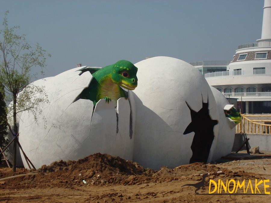 Animatronic dinosaur exhibition case picture appreciation