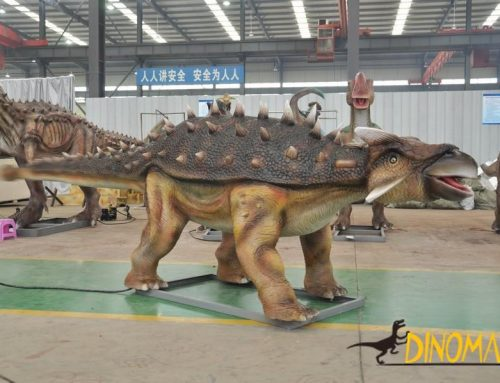 Animatronic dinosaur model rental process