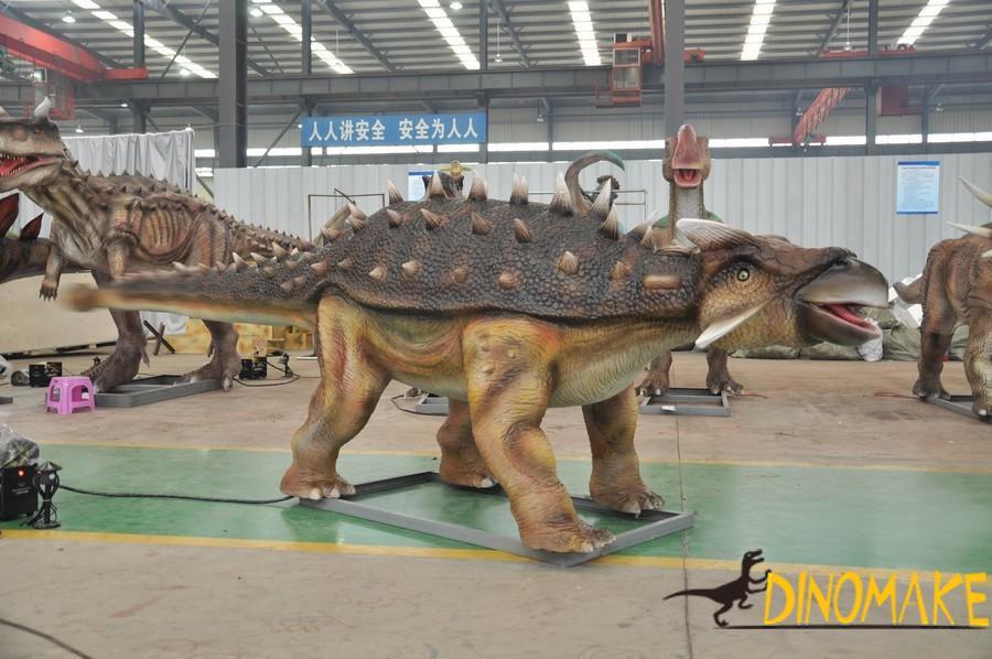 Animatronic dinosaur model rental process