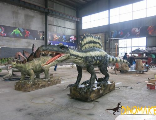 Animatronic of dinosaur production process and material supply