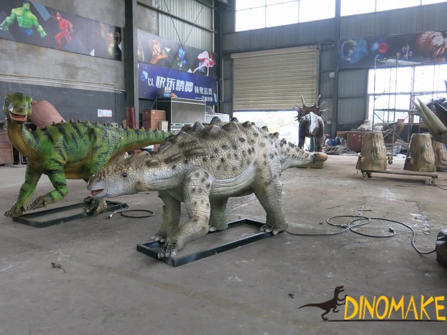 Animatronic dinosaurs model rental process