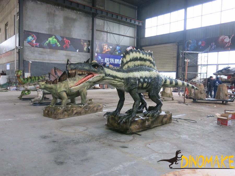 Animatronic dinosaurs production process and material supply