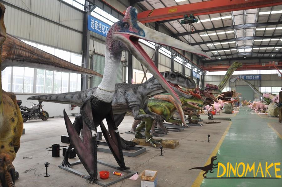 Animatronic pterosaur, the ruler of the sky in dinosaur period