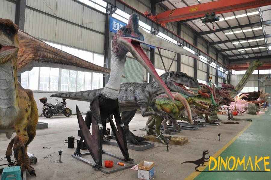 Animatronic pterosaur, the ruler of the sky in dinosaurs period