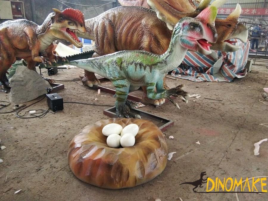 Big guy in animatronic dinosaur-Thunder Dragon