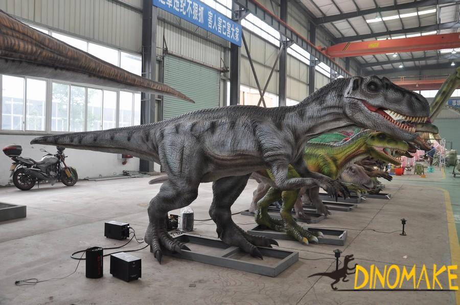 Continuous Animatronic dinosaurs production