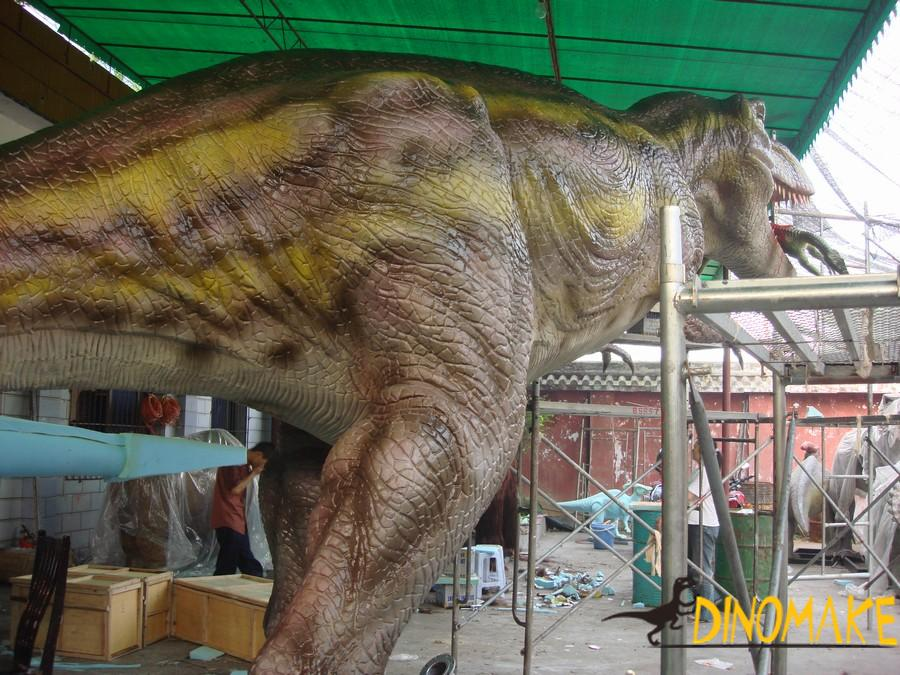 Dinosaur factory a group of Animatronic dinosaur