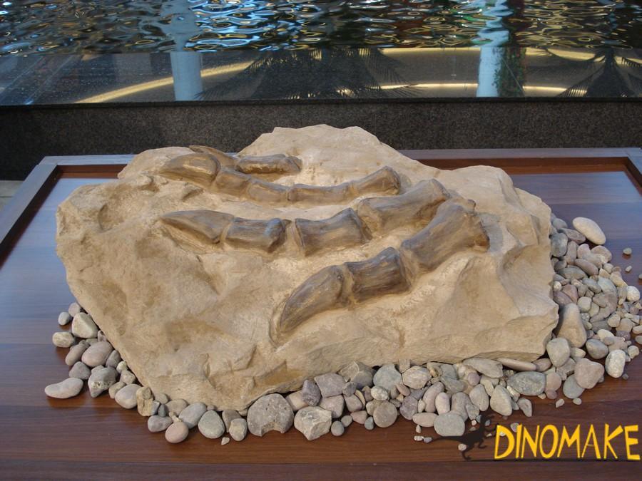 Dinosaur skeleton repair work