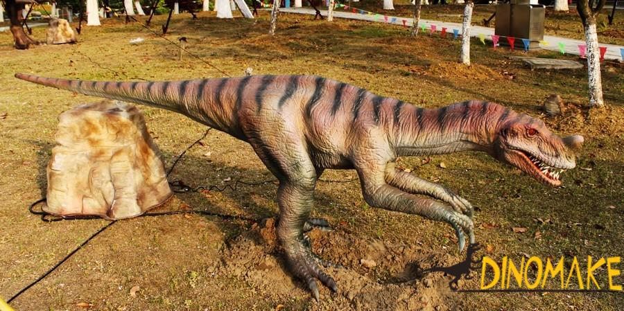 Features of animatronic dinosaur model