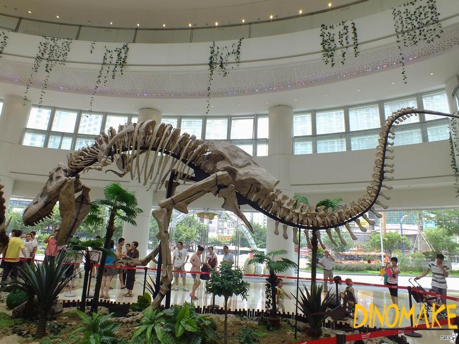 Fossil Animatronic dinosaur skeleton