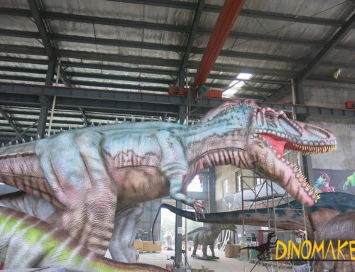 How to set up a Animatronic dinosaur exhibition