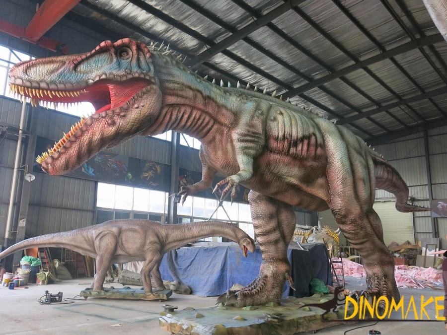 How to set up a Animatronic dinosaur exhibitions