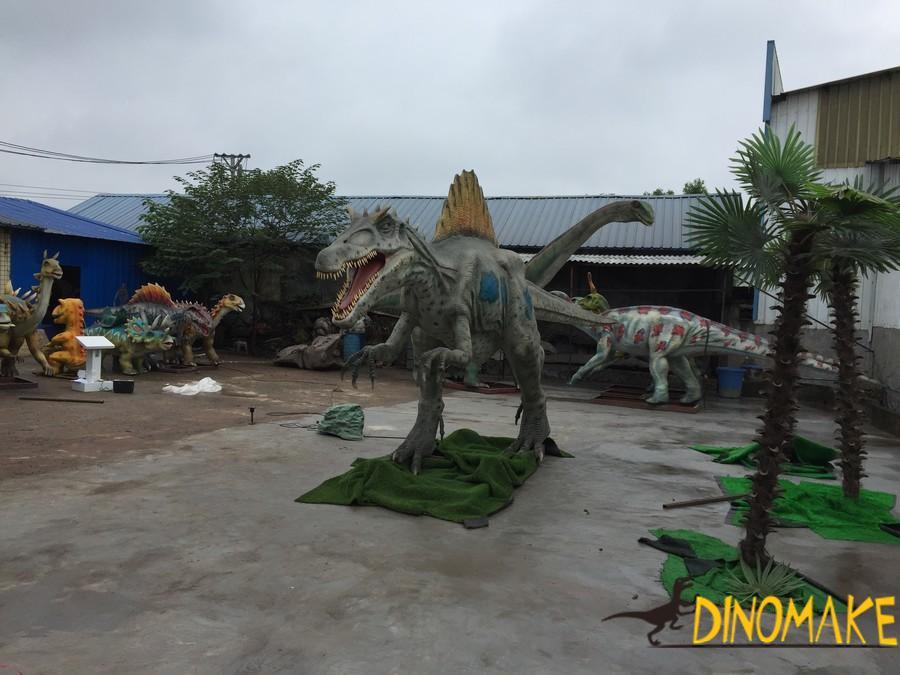 How to work for Animatronic dinosaur