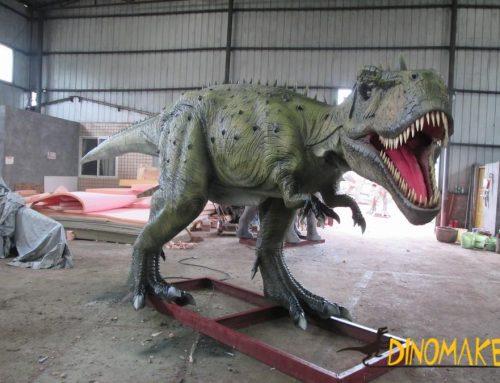Image characteristics of animatronic dinosaur