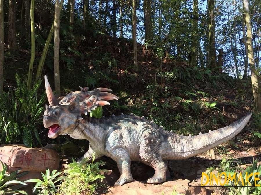 Introduction of animatronic dinosaurs model