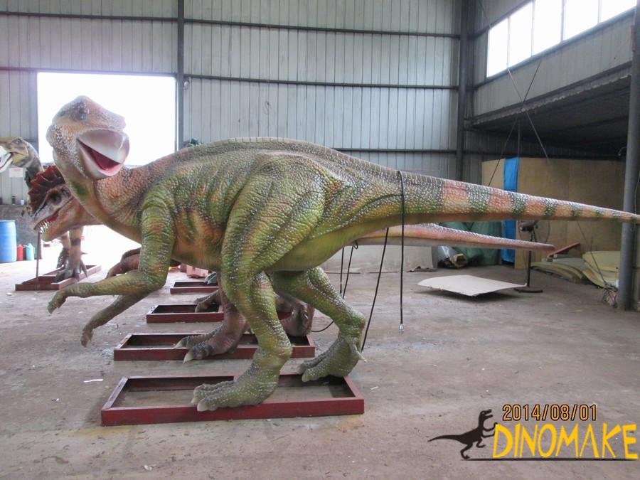 Making of Animatronic dinosaurs seat