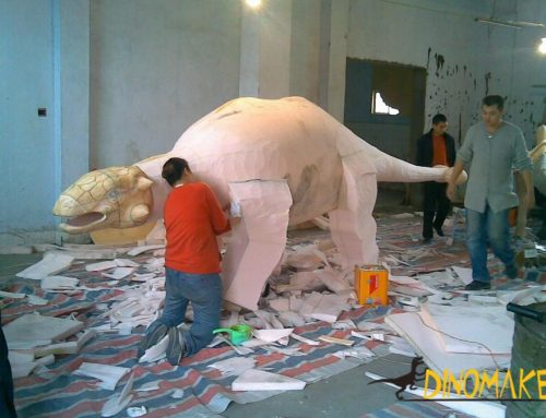 Nigerian Animatronic dinosaur model exhibition