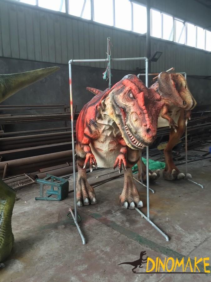 People wear Animatronic dinosaur costume manufacturers