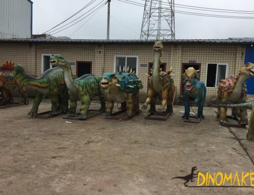 Rare dinosaurs in the animatronic dinosaur exhibition