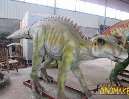 Rookie bison dragon in a animatronic dinosaur