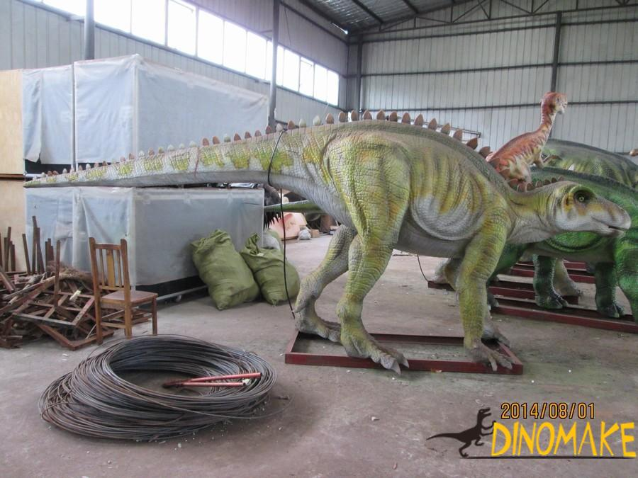 Rookie bison dragon in a animatronic dinosaurs