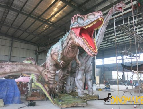 The Large Animatronic dinosaur model
