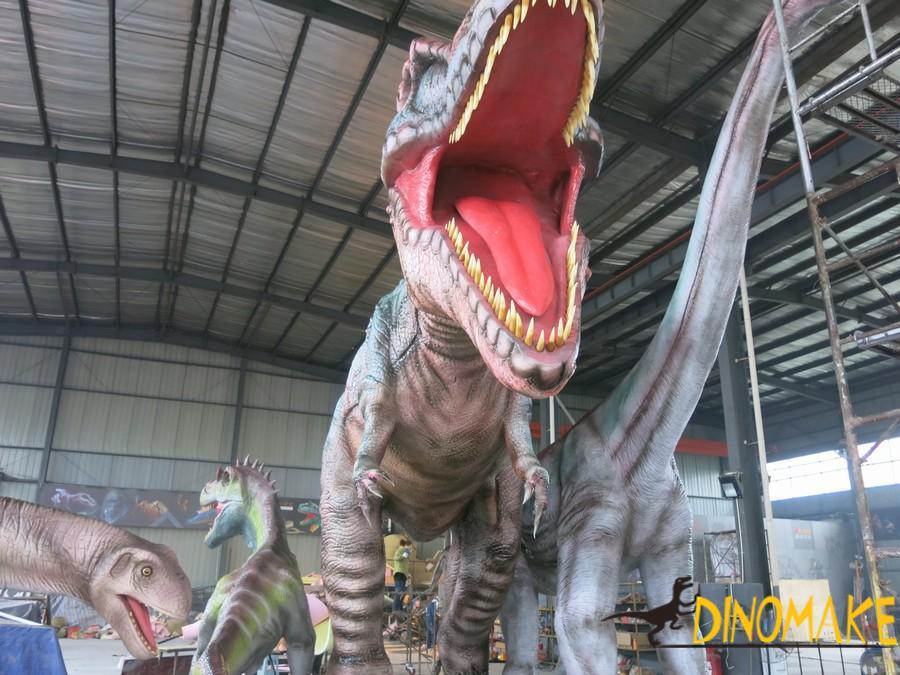 The Large Animatronic dinosaurs
