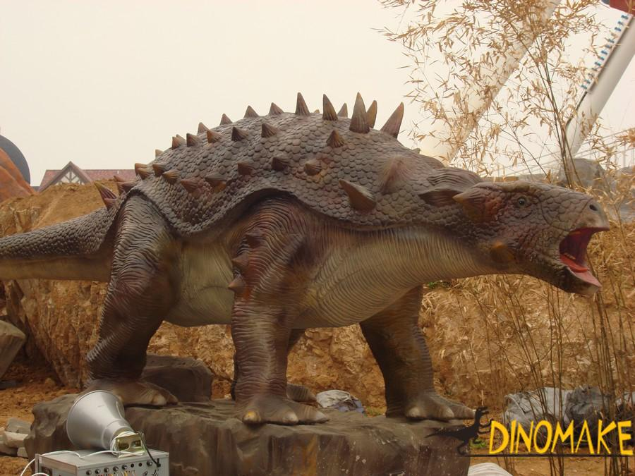 The imprint of a walking animatronic dinosaur