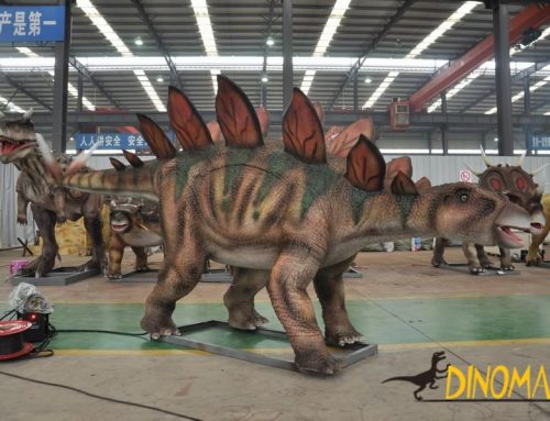 The introduction of animatronic Dinosaurs