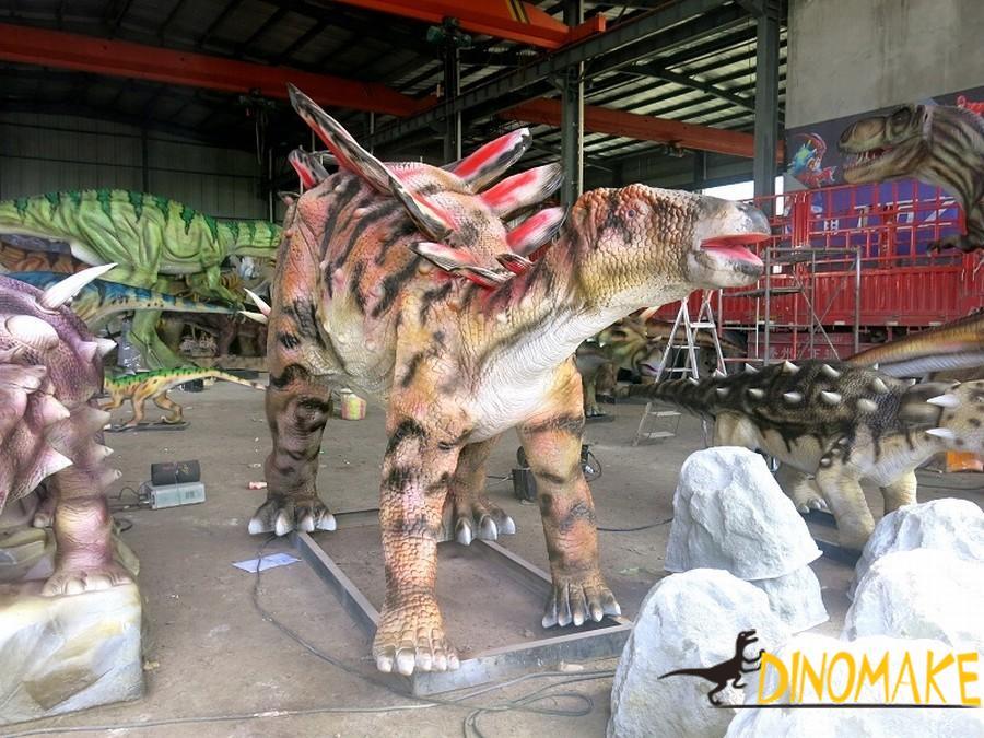 The introduction of animatronic Dinosaurs