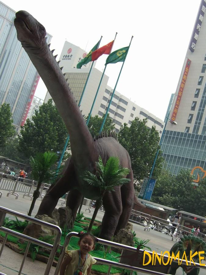 The longest diplodocus Animatronic dinosaur in Japan
