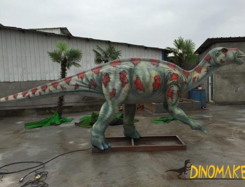 The love dinosaur in the Animatronic dinosaur – the Maiasaura
