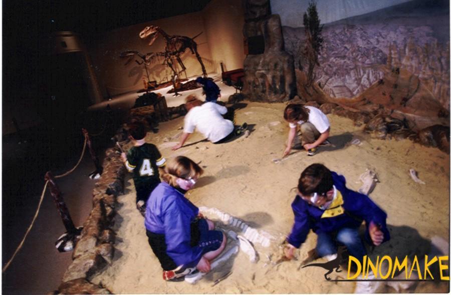 The maintenance method of dinosaur skeleton