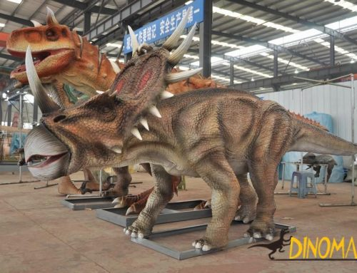 The role of a animatronic dinosaur exhibition
