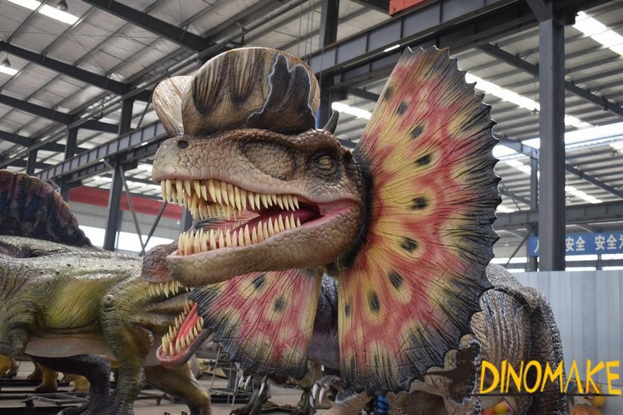 The world's largest animatronic dinosaur Argentinosaurus