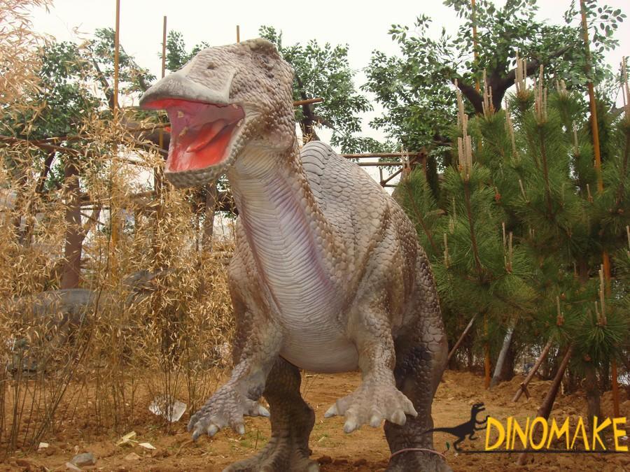 Walking animatronic dinosaur