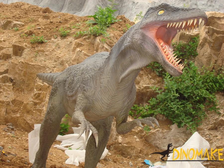 Walking animatronic dinosaurs