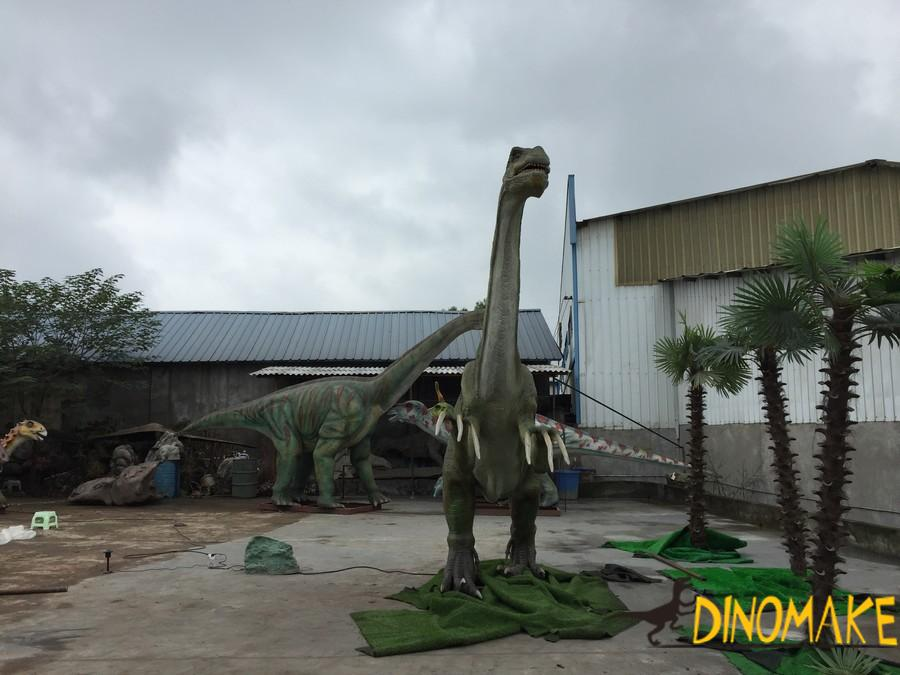 What materials are needed for animatronic dinosaur model repair