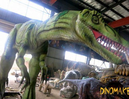Zhejiang animatronic dinosaur model Lu Fenglong