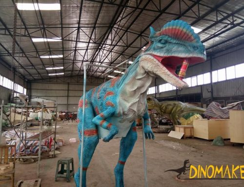 Animatronic dinosaur costume sent to Italy