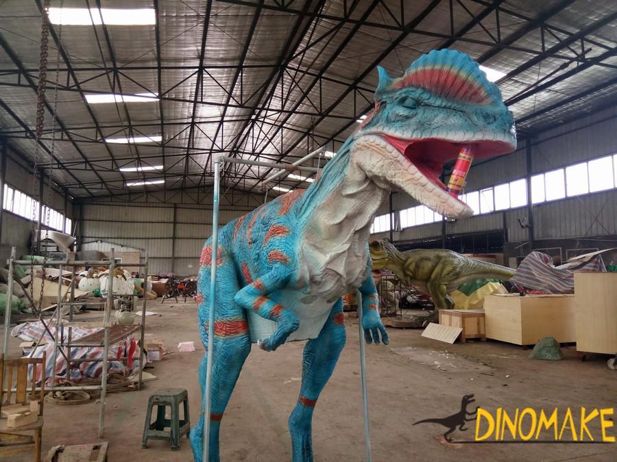 A Animatronic Dinosaur Costume Sent To Italy