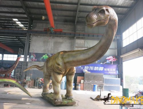 Animatronic dinosaur model settles in Scenic Area