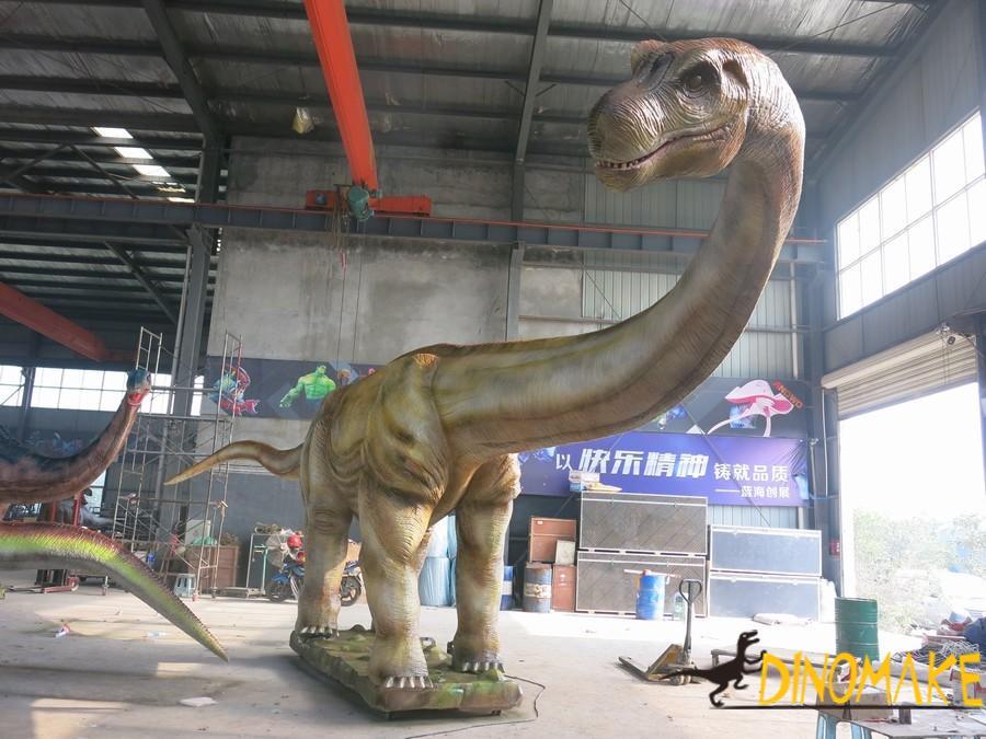 Animatronic dinosaur model settles in Fujian Scenic Area