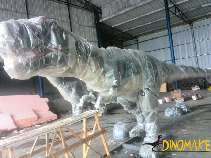 Animatronic dinosaurs exhibition market sales layout